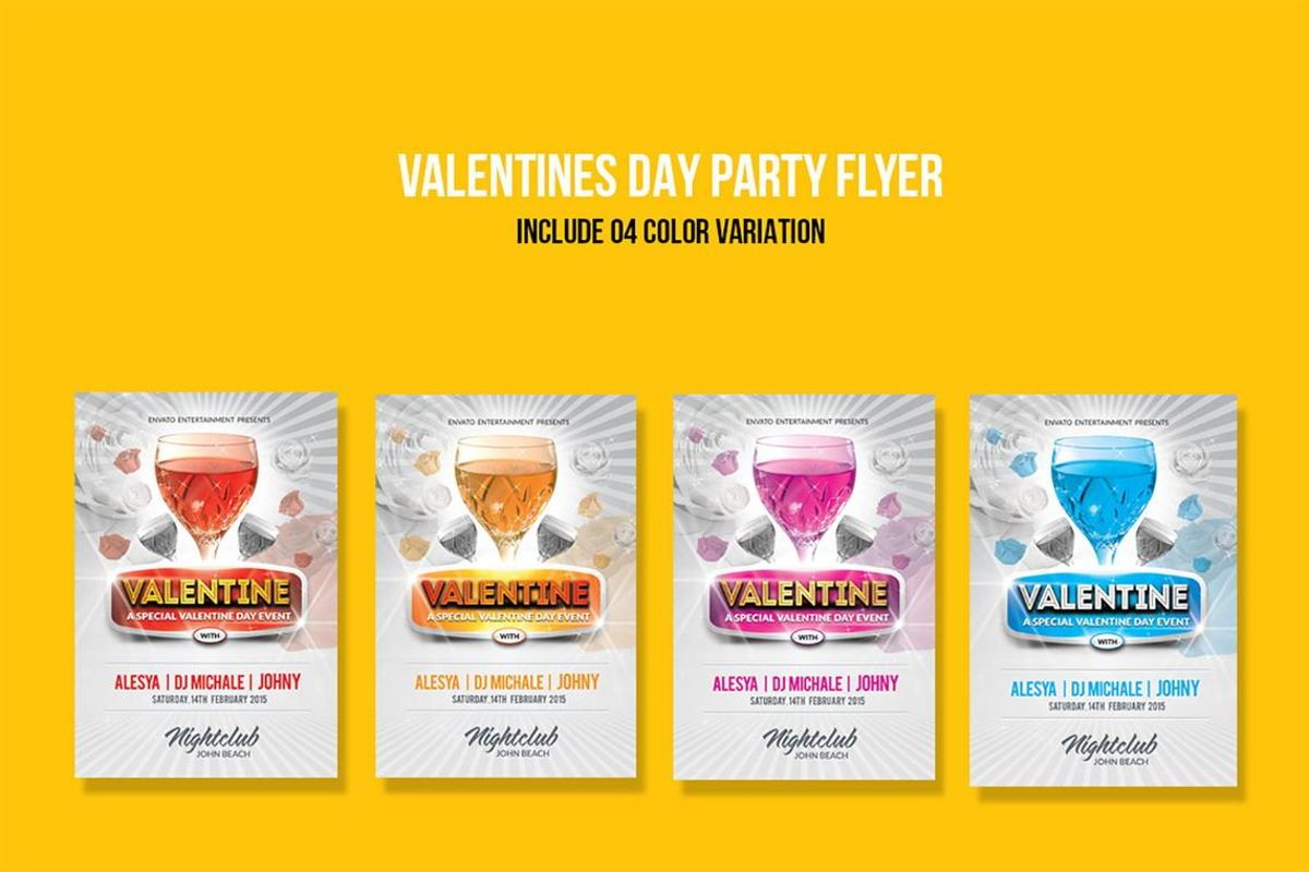 Valentine Day Party Flyer PSD Template, Slide 5, 08795, Holiday/Special Occasion — PoweredTemplate.com