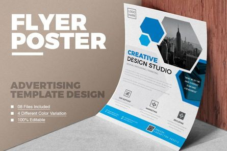 Business: Corporate Business Flyer Template #08796