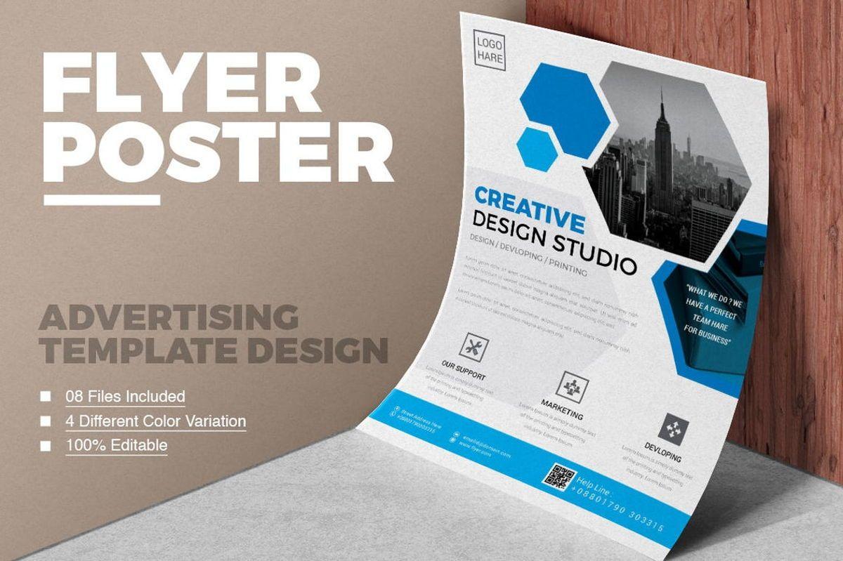 Corporate Business Flyer Template, 08796, Business — PoweredTemplate.com
