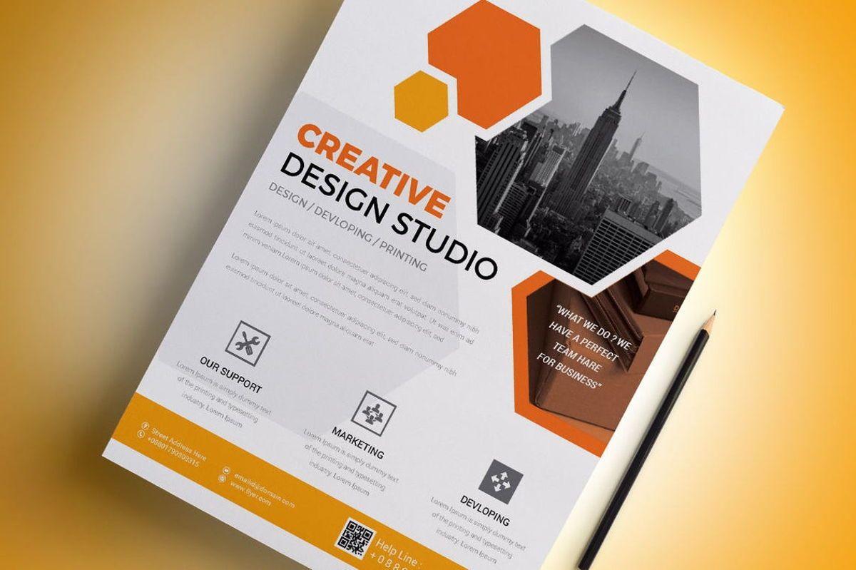 Corporate Business Flyer Template, Diapositive 2, 08796, Business — PoweredTemplate.com