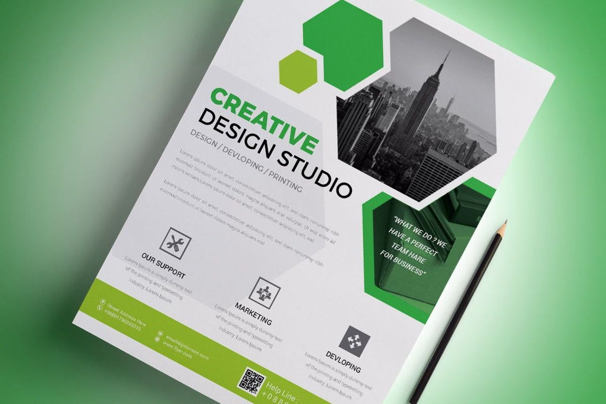 Corporate Business Flyer Template, Diapositive 3, 08796, Business — PoweredTemplate.com