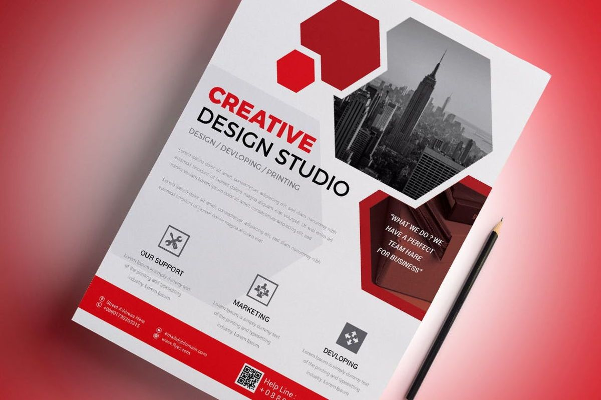 Corporate Business Flyer Template, Diapositive 4, 08796, Business — PoweredTemplate.com