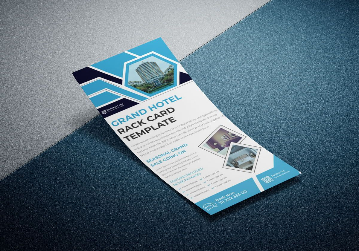 Grand hotel advertising rack card template or Dl Flyer template design, スライド 4, 08798, ビジネス — PoweredTemplate.com