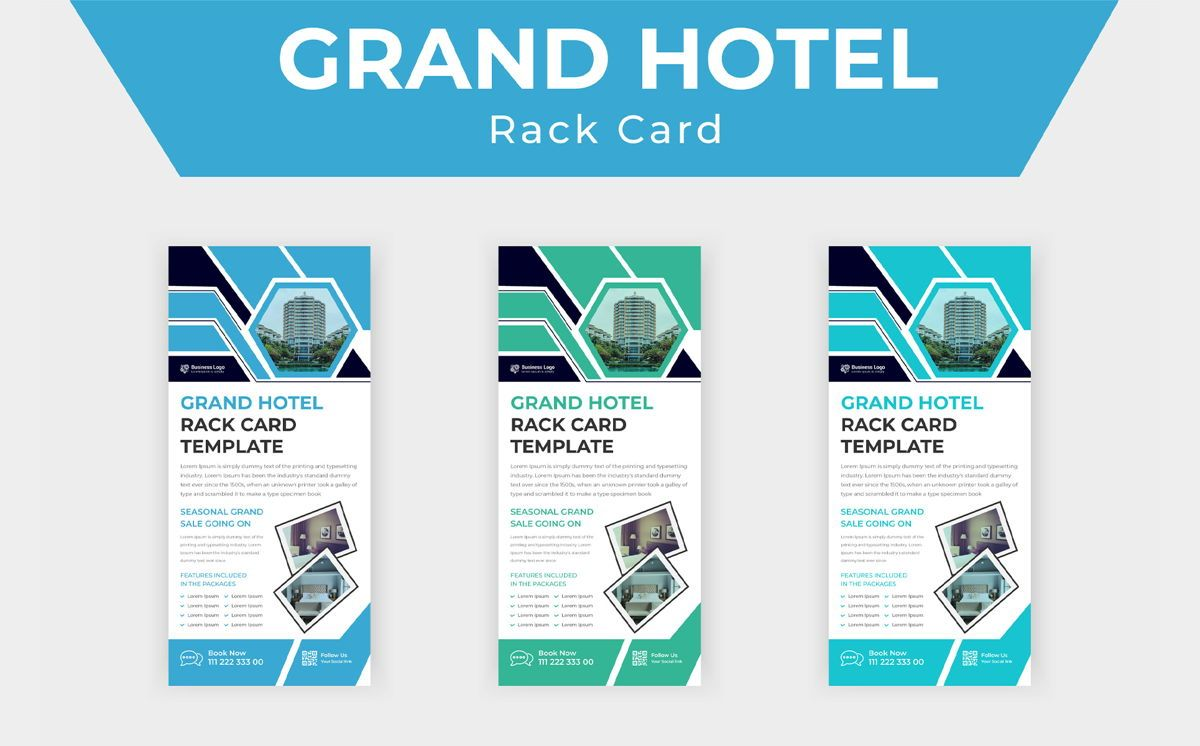 Grand hotel advertising rack card template or Dl Flyer template design, スライド 5, 08798, ビジネス — PoweredTemplate.com