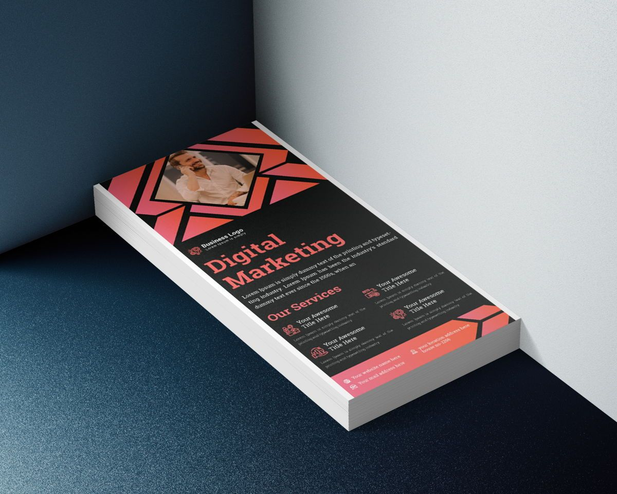 Marketing Consultant Agency promotional services Rack Card Or Dl Flyer Template, 08799, Business — PoweredTemplate.com