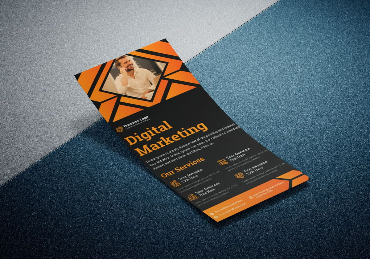 Marketing Consultant Agency promotional services Rack Card Or Dl Flyer Template, Slide 3, 08799, Business — PoweredTemplate.com