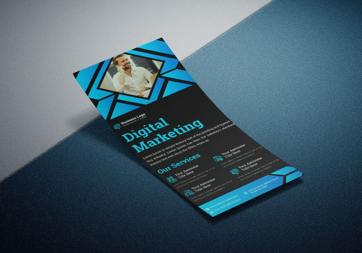 Marketing Consultant Agency promotional services Rack Card Or Dl Flyer Template, Slide 4, 08799, Business — PoweredTemplate.com