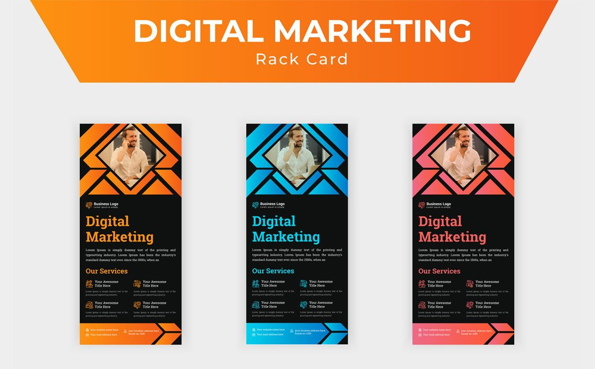 Marketing Consultant Agency promotional services Rack Card Or Dl Flyer Template, Slide 5, 08799, Business — PoweredTemplate.com