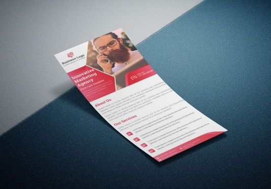 Business: Marketing agency rack card template or Dl Flyer #08800