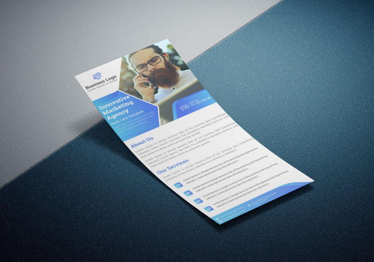 Marketing agency rack card template or Dl Flyer, Slide 2, 08800, Business — PoweredTemplate.com
