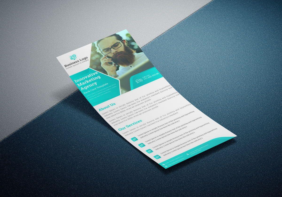 Marketing agency rack card template or Dl Flyer, Slide 3, 08800, Business — PoweredTemplate.com