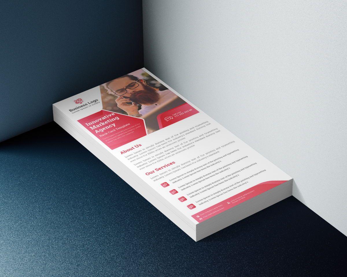 Marketing agency rack card template or Dl Flyer, Slide 4, 08800, Business — PoweredTemplate.com