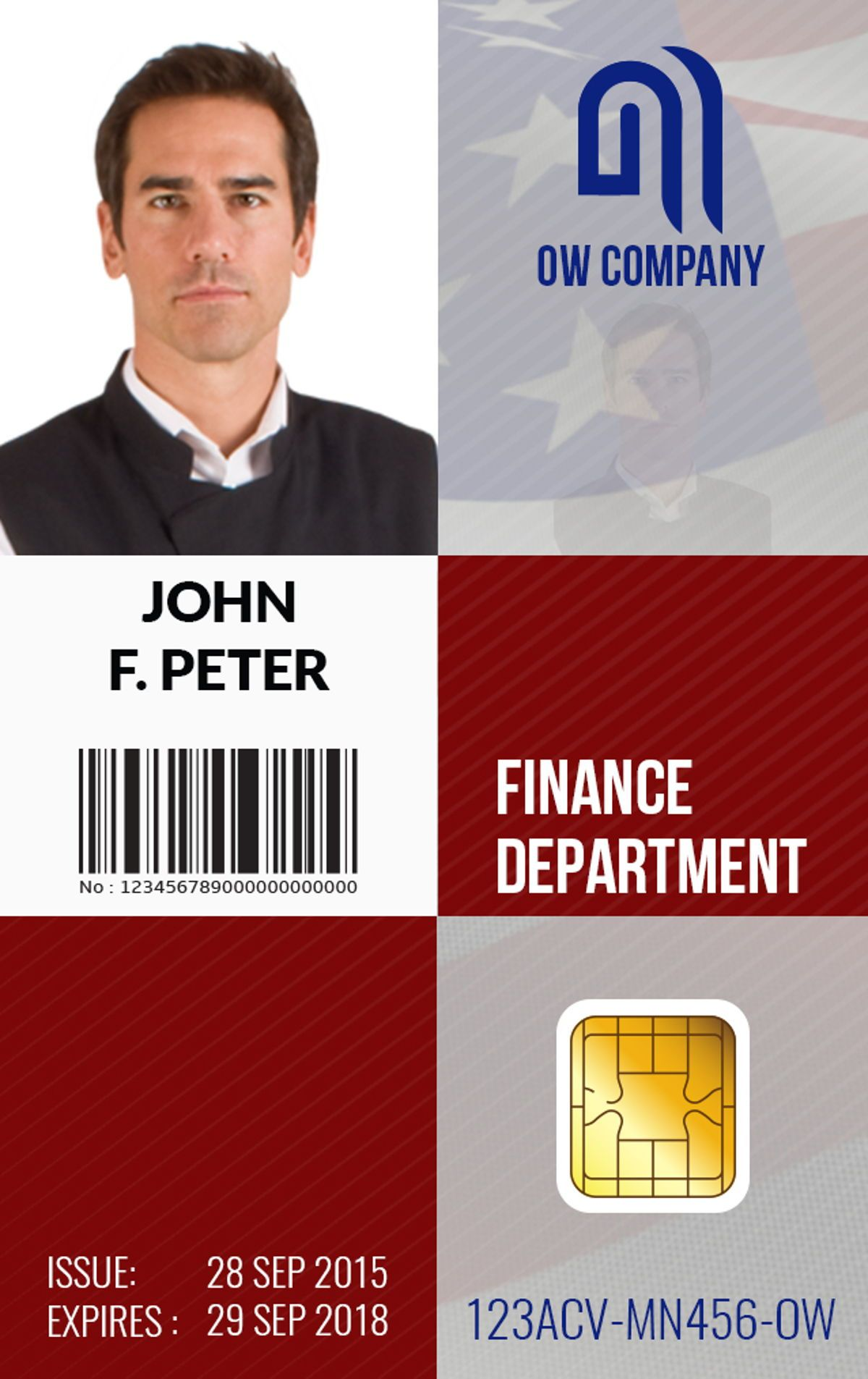 Business ID Card Template, Slide 6, 08801, Business — PoweredTemplate.com