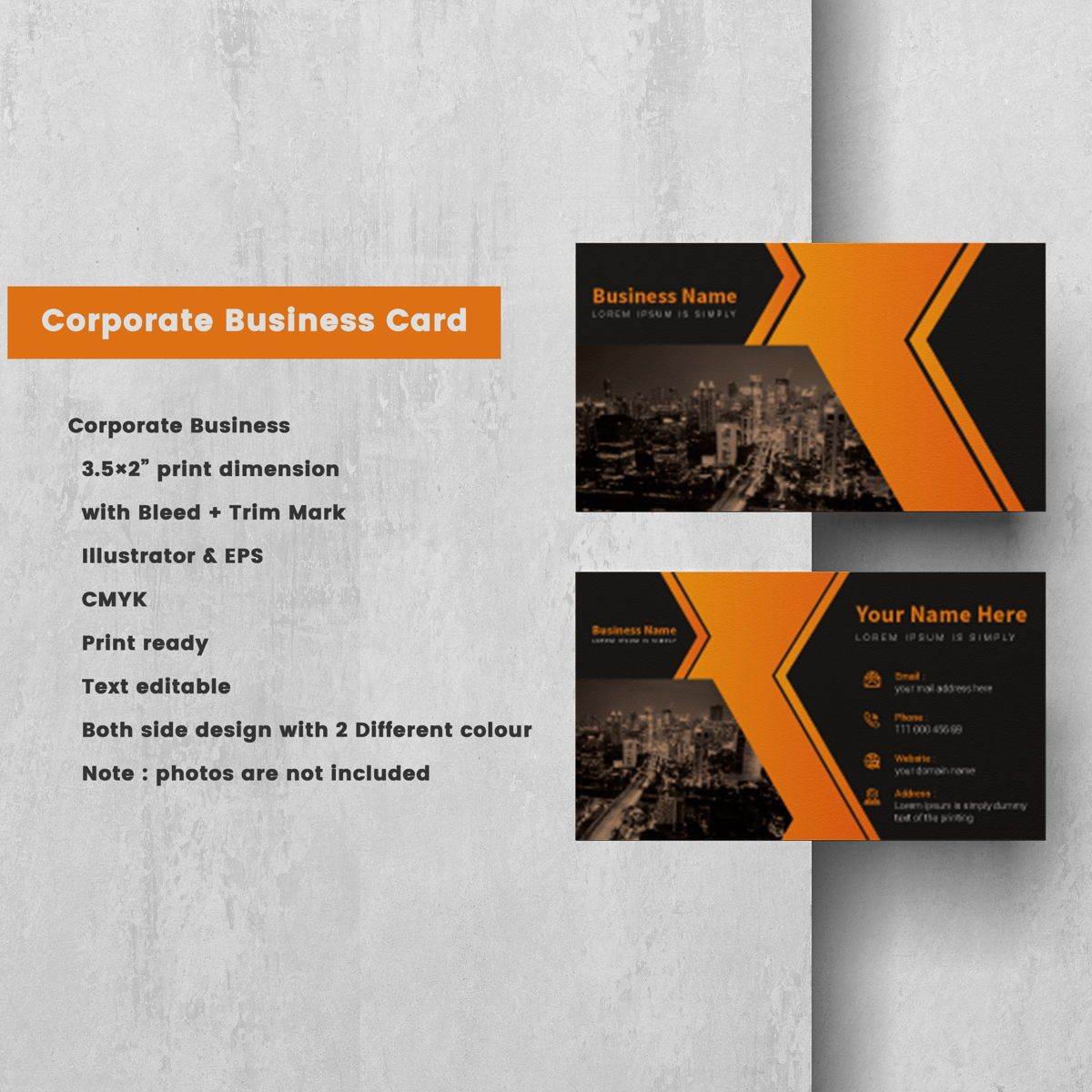 Creative Corporate Professional Business Card Template, Slide 2, 08802, America — PoweredTemplate.com