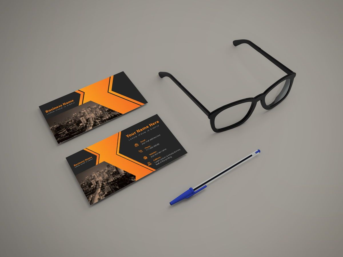 Creative Corporate Professional Business Card Template, Slide 3, 08802, America — PoweredTemplate.com