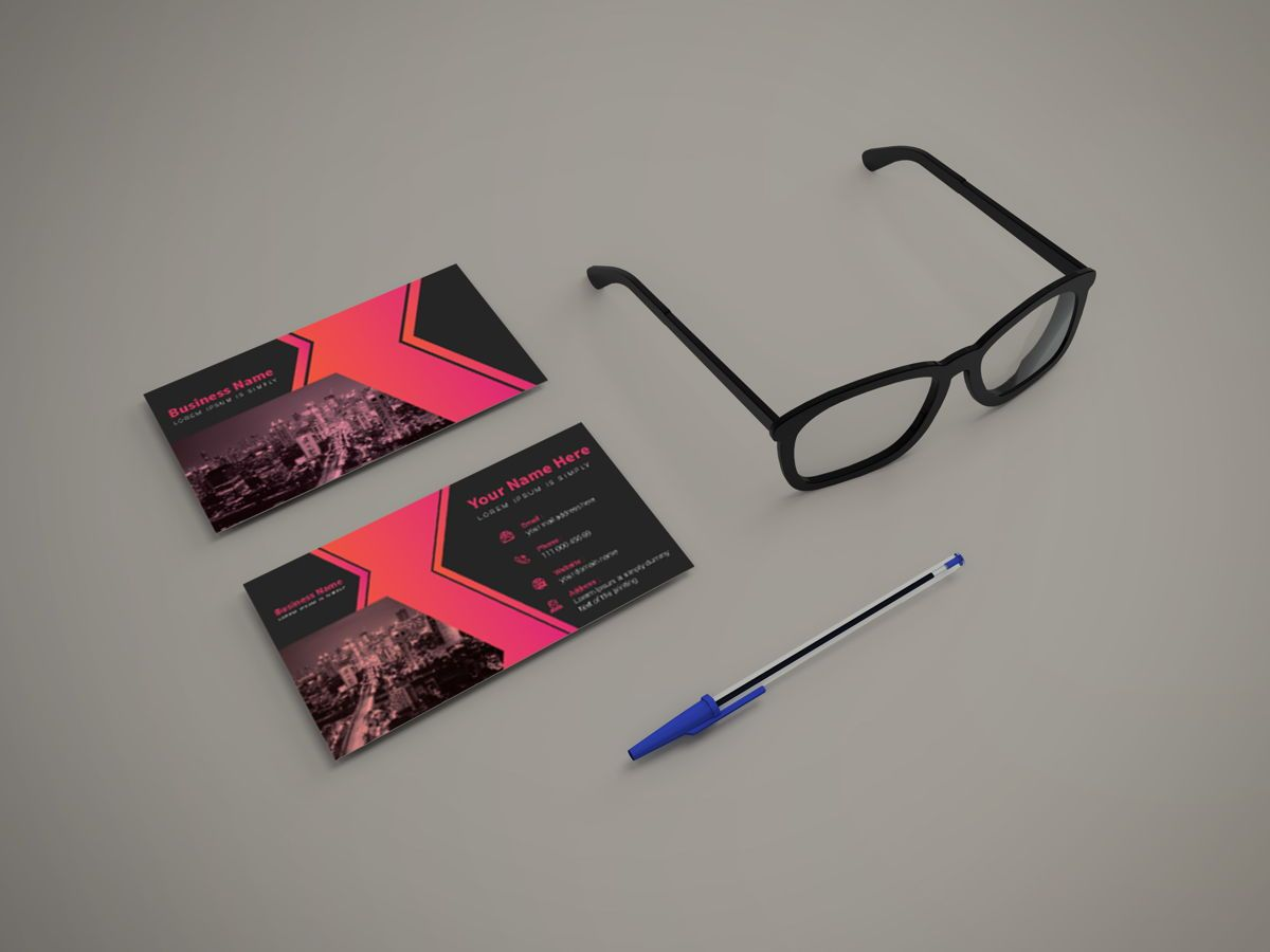 Creative Corporate Professional Business Card Template, Slide 4, 08802, America — PoweredTemplate.com
