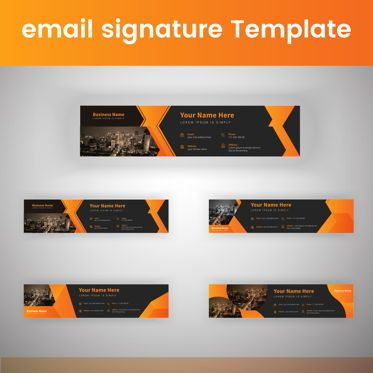 Abstract/Textures: Corporate Professional Business Email Signature Templates Bundle #08803