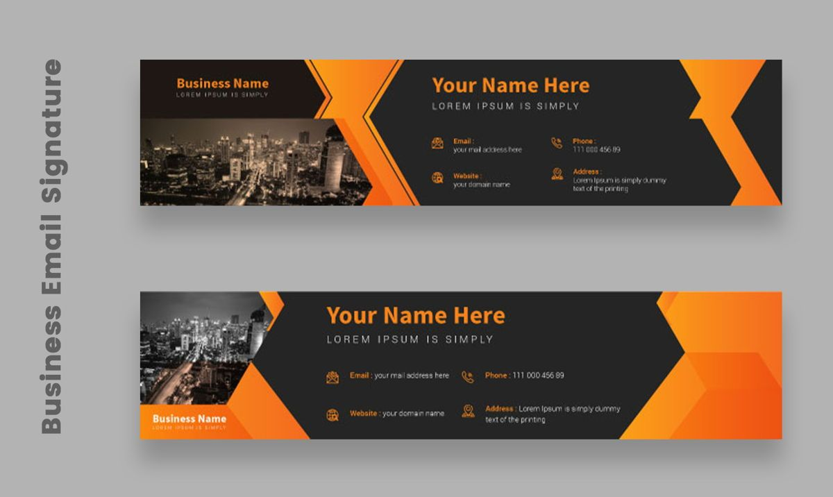 Corporate Professional Business Email Signature Templates Bundle, Slide 2, 08803, Abstract/Textures — PoweredTemplate.com