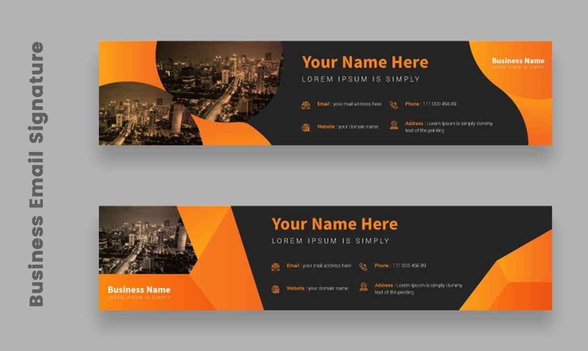 Corporate Professional Business Email Signature Templates Bundle, Slide 3, 08803, Abstract/Textures — PoweredTemplate.com