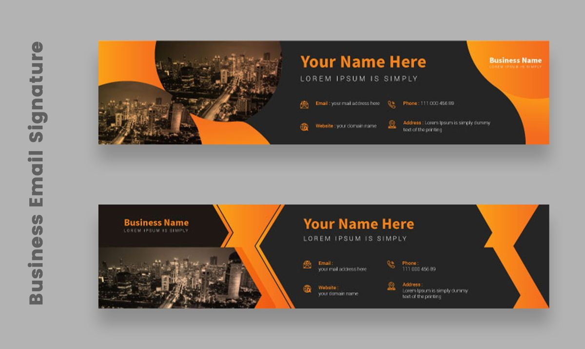 Corporate Professional Business Email Signature Templates Bundle, Slide 4, 08803, Abstract/Textures — PoweredTemplate.com
