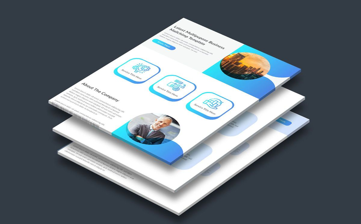latest creative multipurpose business email newsletter template, Deslizar 2, 08804, Abstrato/Texturas — PoweredTemplate.com