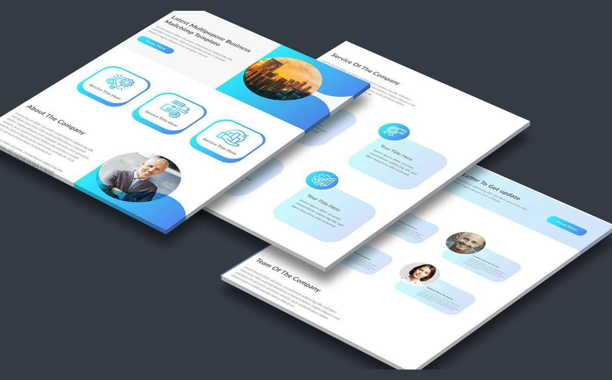 latest creative multipurpose business email newsletter template, Deslizar 3, 08804, Abstrato/Texturas — PoweredTemplate.com