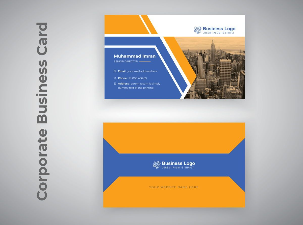 Professional Corporate Business Card Template, 08805, 抽象/テクスチャ — PoweredTemplate.com