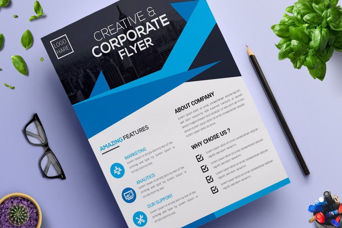 Corporate Business Flyer Vol 02, 08806, Business — PoweredTemplate.com