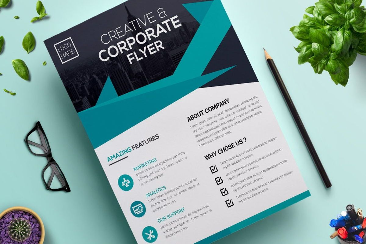 Corporate Business Flyer Vol 02, Slide 4, 08806, Business — PoweredTemplate.com