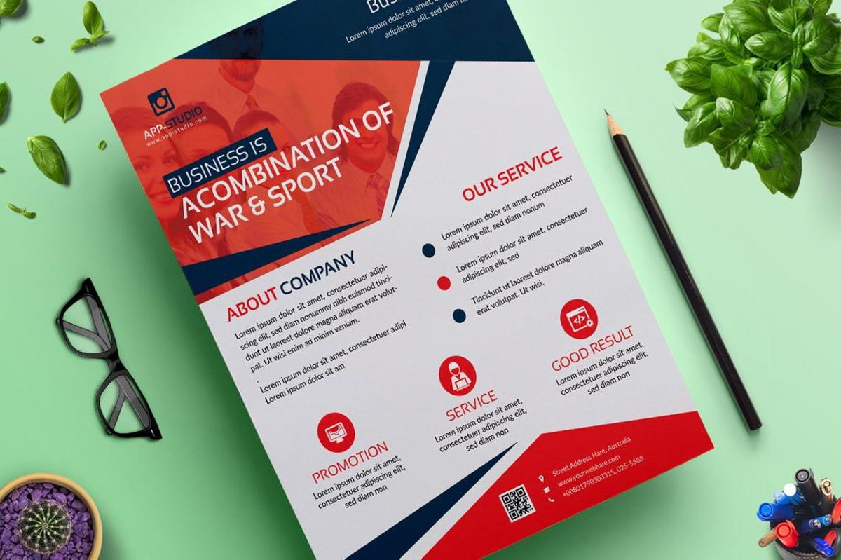 Corporate Business Flyer Poster Design Template Vol 04, 08808, Bisnis — PoweredTemplate.com
