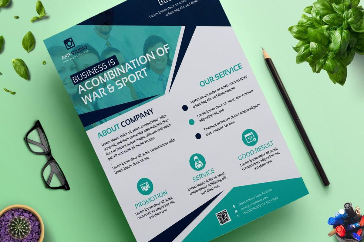 Corporate Business Flyer Poster Design Template Vol 04, Slide 2, 08808, Bisnis — PoweredTemplate.com