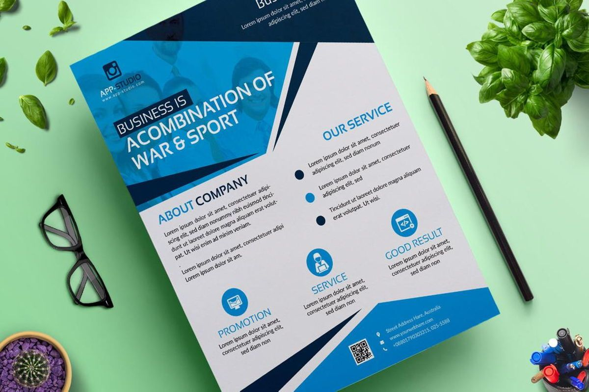 Corporate Business Flyer Poster Design Template Vol 04, Slide 3, 08808, Bisnis — PoweredTemplate.com