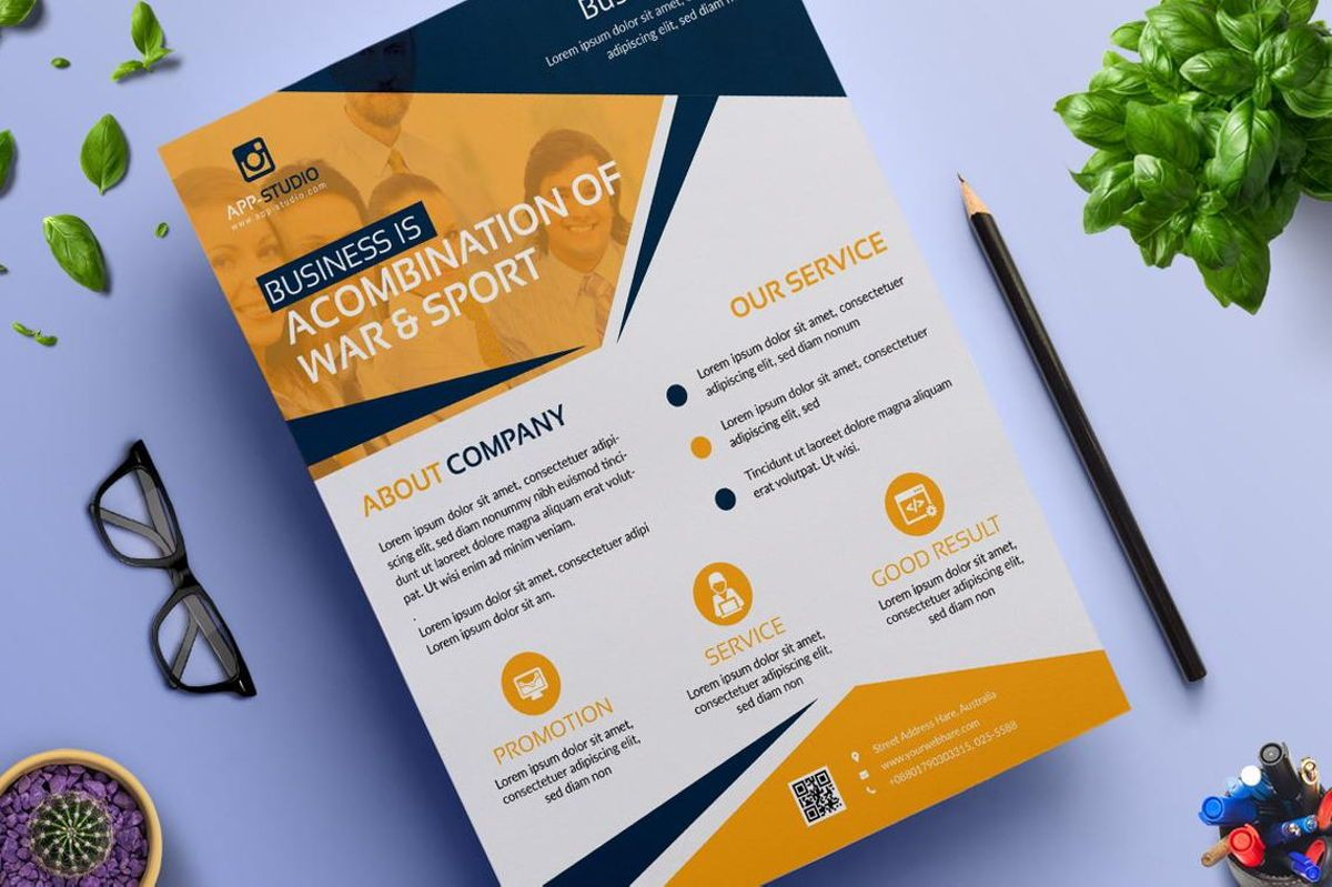 Corporate Business Flyer Poster Design Template Vol 04, Slide 4, 08808, Bisnis — PoweredTemplate.com