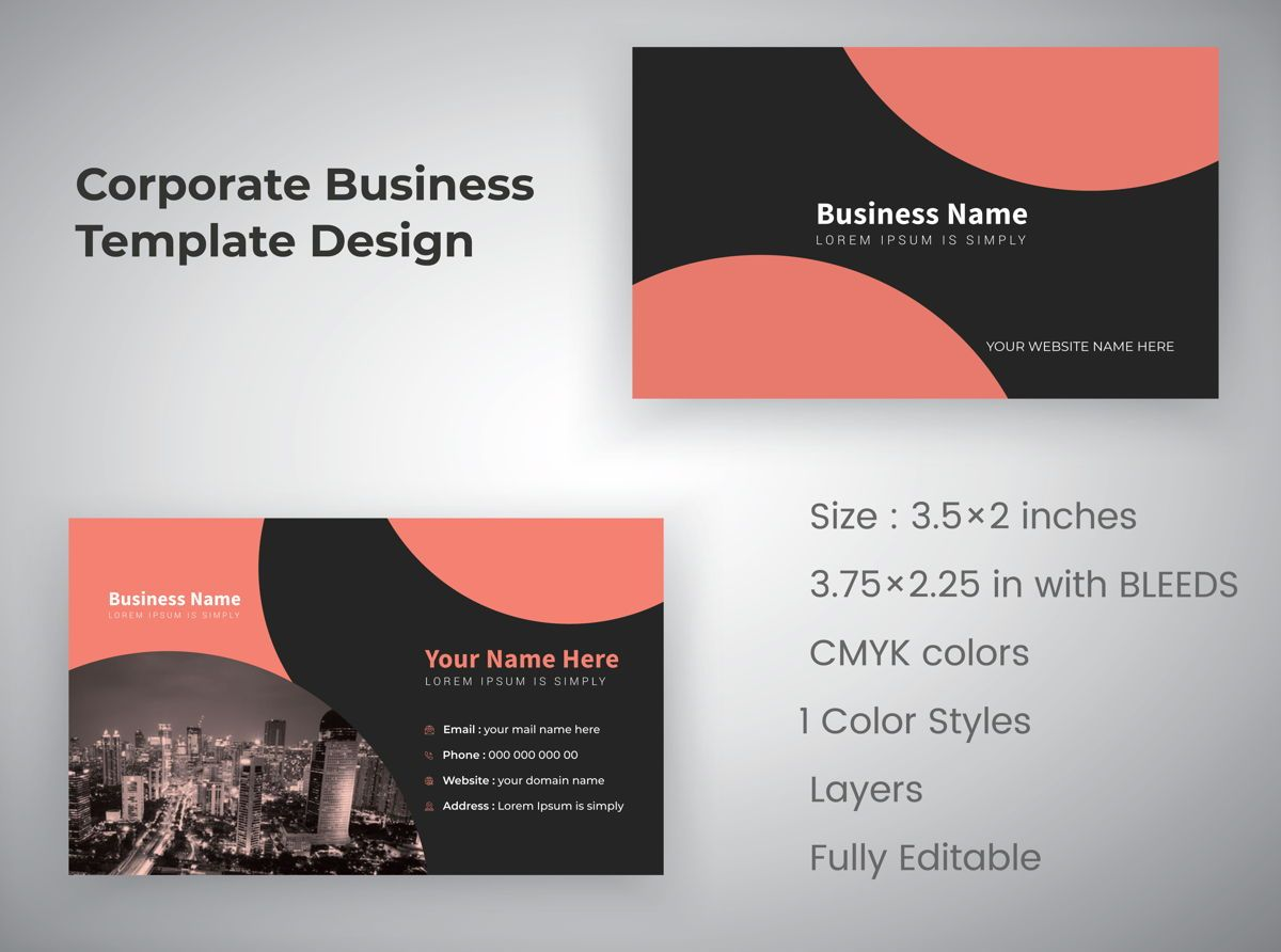 industrial Personal Creative Business Card Template, 08810, 抽象/テクスチャ — PoweredTemplate.com
