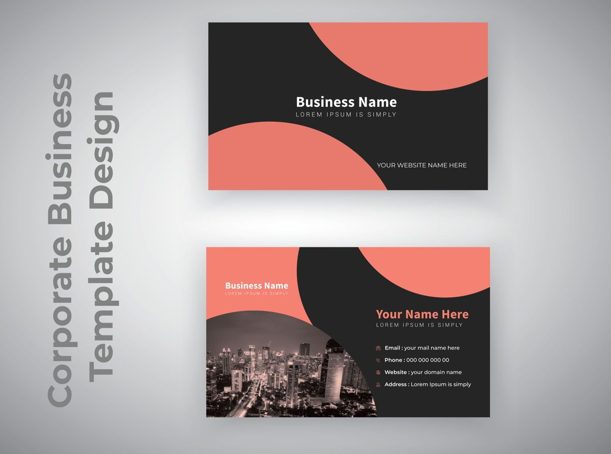 industrial Personal Creative Business Card Template, スライド 2, 08810, 抽象/テクスチャ — PoweredTemplate.com