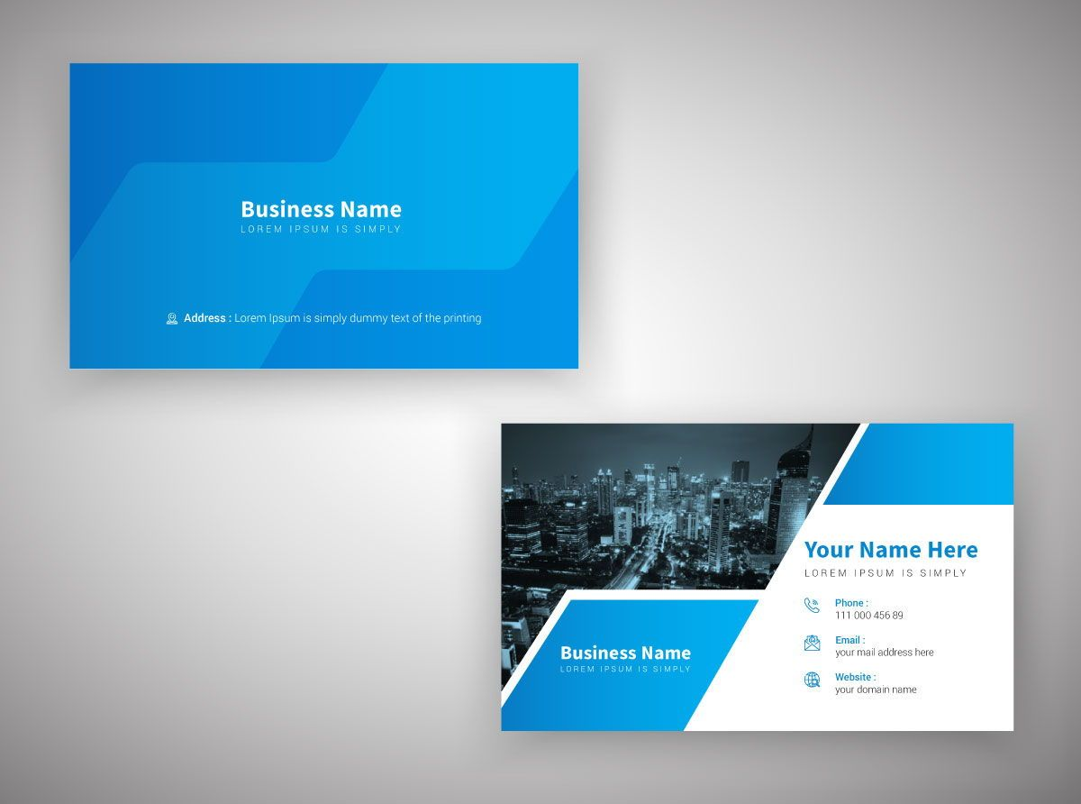 Creative Corporate Professional Personal Business Card Template, 08811, Abstract/Textuur — PoweredTemplate.com
