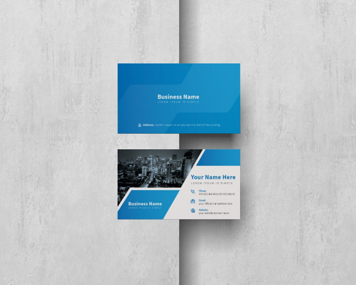 Creative Corporate Professional Personal Business Card Template, Dia 4, 08811, Abstract/Textuur — PoweredTemplate.com