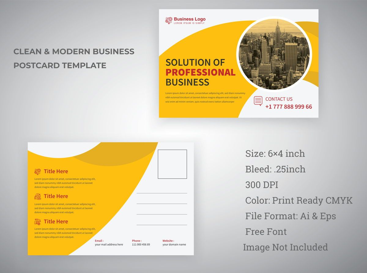 Latest Minimal Industrial Postcard Template Design For Professional Business Services, Slide 3, 08812, Abstrak/Tekstur — PoweredTemplate.com
