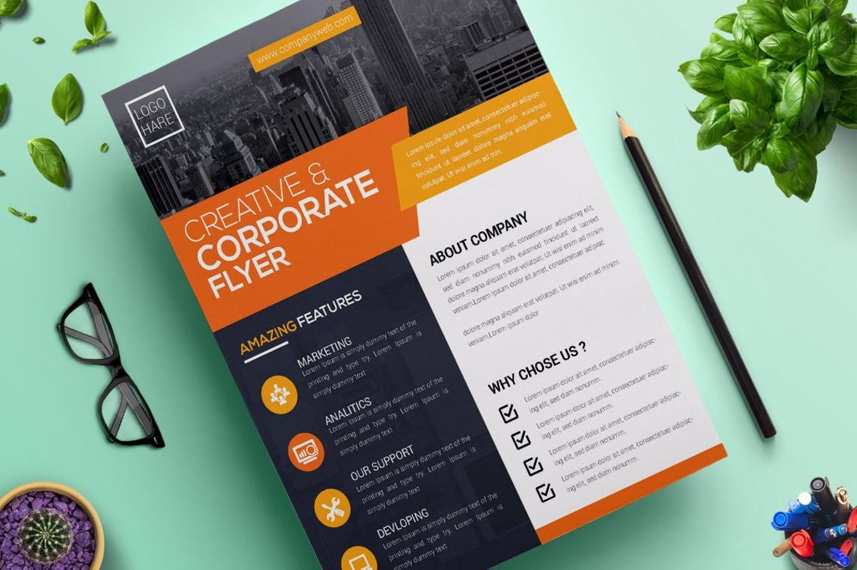 Corporate Business Flyer Design Template Vol 05, Slide 3, 08814, Business — PoweredTemplate.com