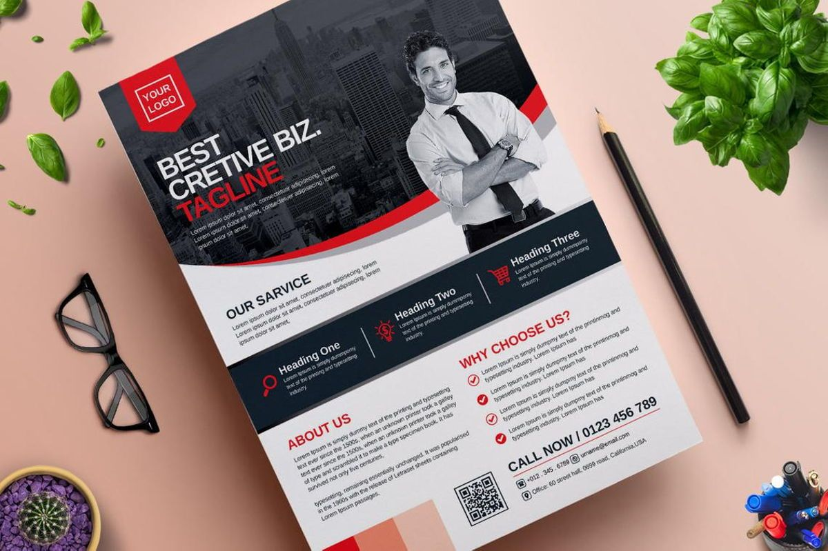 Corporate Business Flyer Template Vol 06, 08815, Business — PoweredTemplate.com