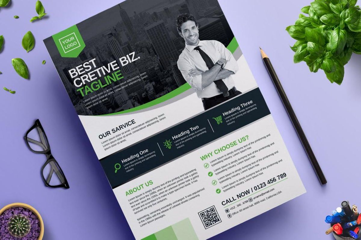 Corporate Business Flyer Template Vol 06, Diapositive 2, 08815, Business — PoweredTemplate.com