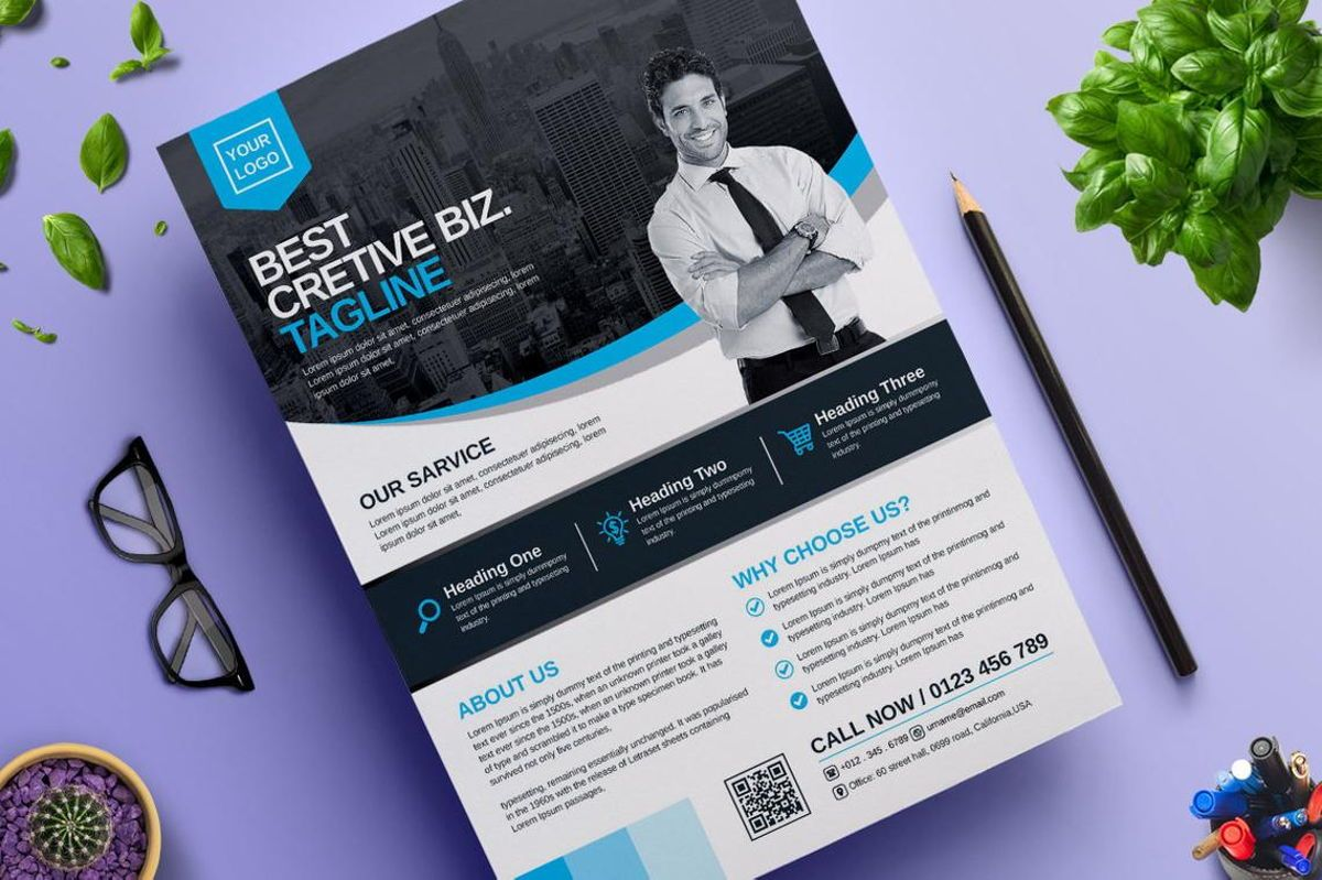 Corporate Business Flyer Template Vol 06, Diapositive 3, 08815, Business — PoweredTemplate.com