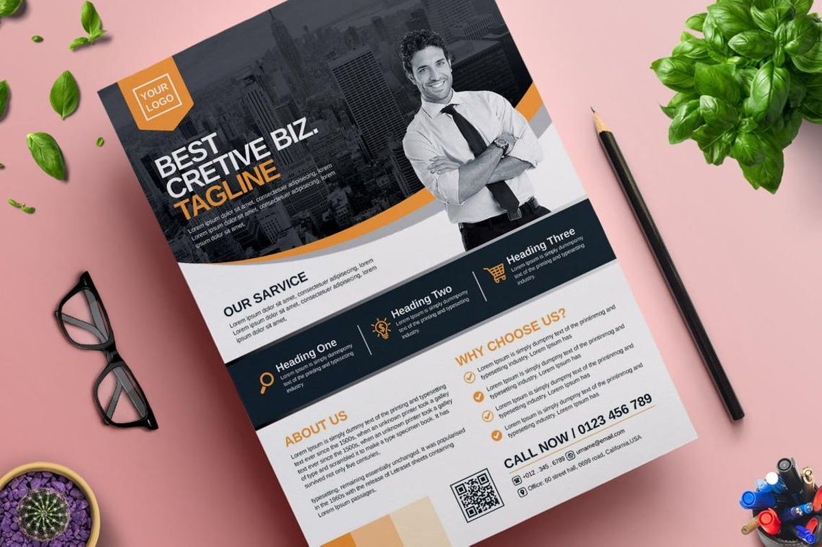 Corporate Business Flyer Template Vol 06, Diapositive 4, 08815, Business — PoweredTemplate.com