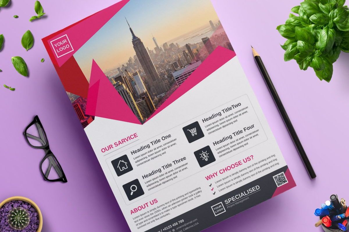 Corporate Business Flyer Template Vol 07, 08816, Bisnis — PoweredTemplate.com