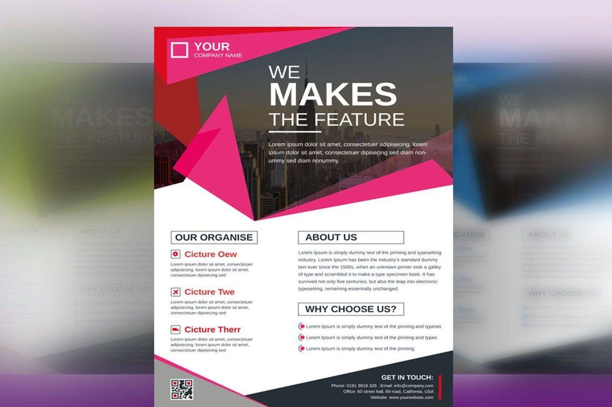 Corporate Business Flyer Design Template Vol 08, 08817, Business — PoweredTemplate.com