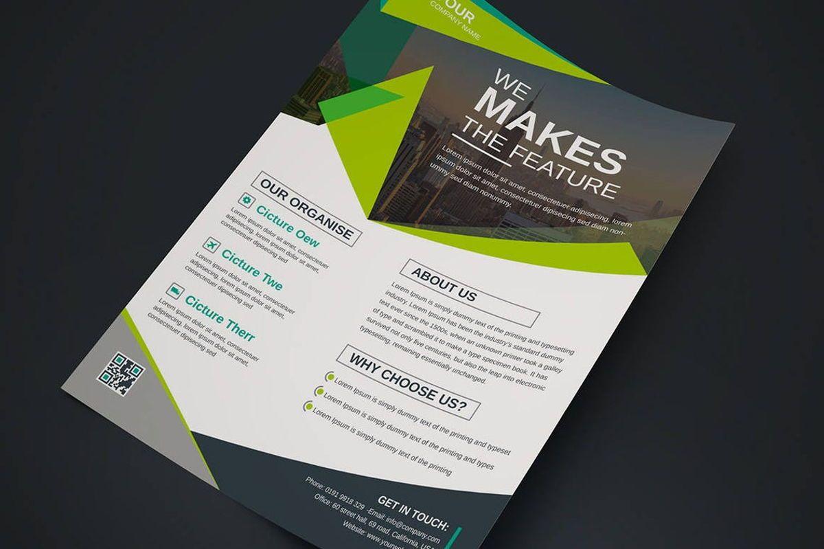 Corporate Business Flyer Design Template Vol 08, Diapositive 2, 08817, Business — PoweredTemplate.com