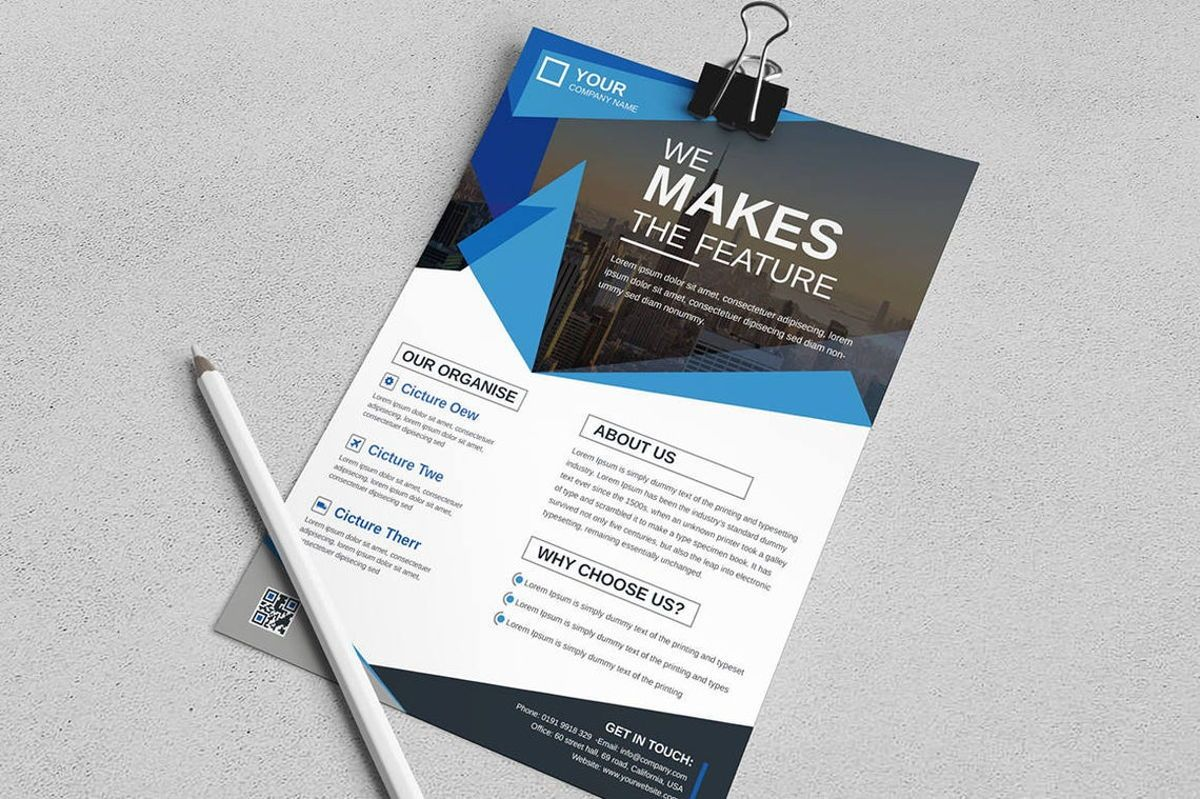 Corporate Business Flyer Design Template Vol 08, Diapositive 3, 08817, Business — PoweredTemplate.com