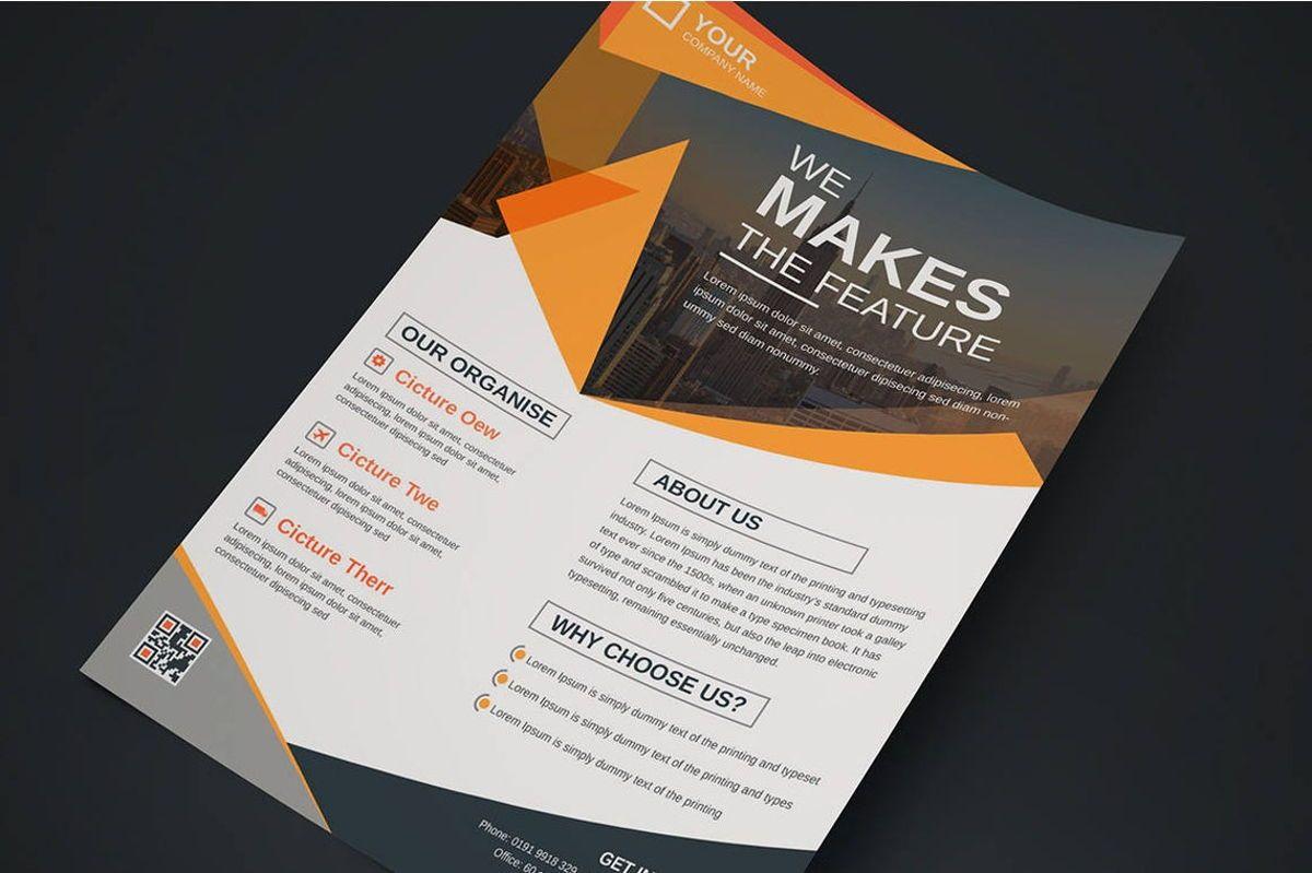 Corporate Business Flyer Design Template Vol 08, Diapositive 4, 08817, Business — PoweredTemplate.com