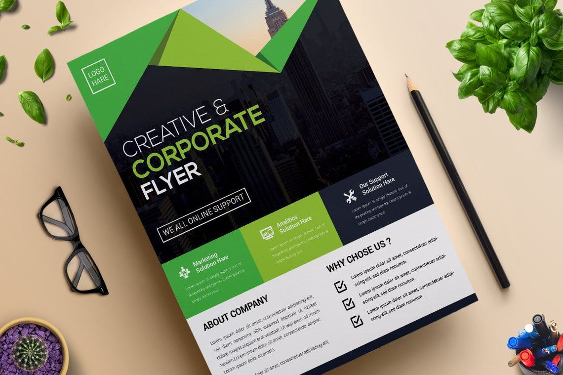 Corporate Business Creative Flyer Vol 09, 08821, Business — PoweredTemplate.com