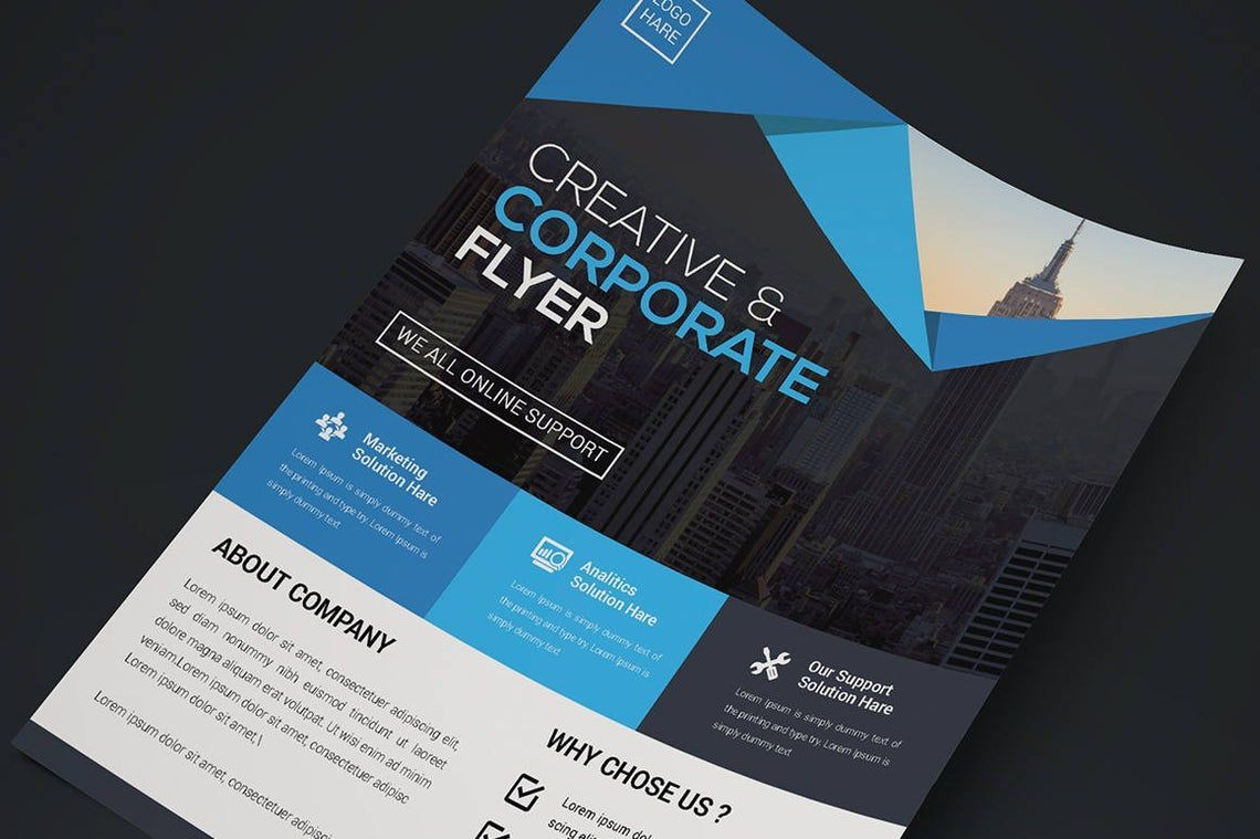 Corporate Business Creative Flyer Vol 09, Slide 2, 08821, Business — PoweredTemplate.com